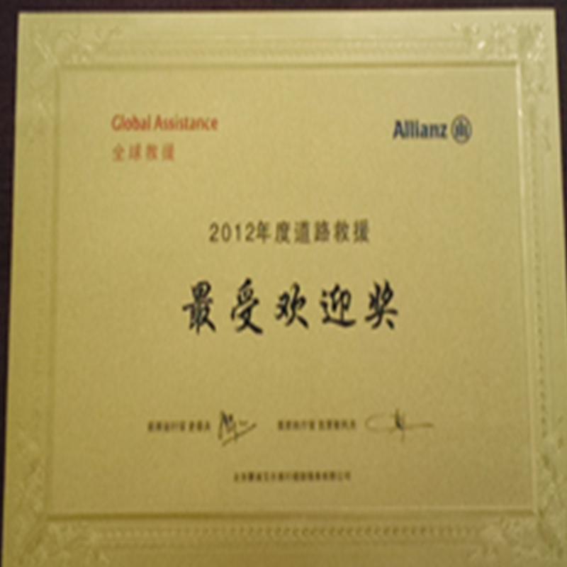 欢迎奖(2012)